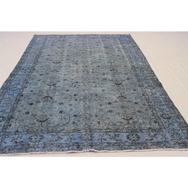 Vintage Overdyed Turki̇sh Rug - 5′8″ × 9′4″ - Image 3 of 8