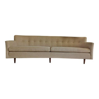 Edward Wormley Dunbar Style Mid-Century Dansh Modern Teak Bracket Back Sofa