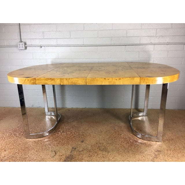Milo Baughman Burlwood Dining Table - Image 2 of 10