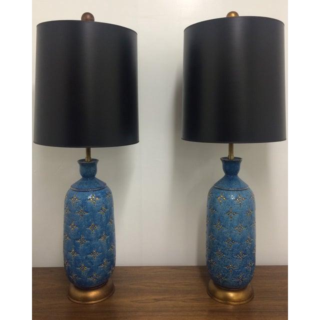 Italian Ceramic Marbro Lamps - A Pair - Image 2 of 4