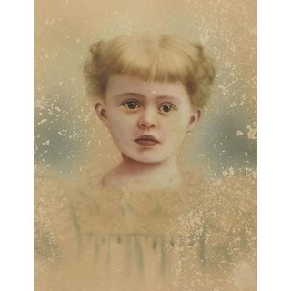 Ethereal Distressed Hand Tinted Photographic Portrait For Sale