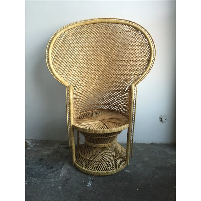 1970s Light Colored Peacock Chair - Image 2 of 6