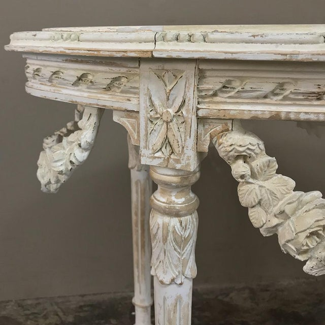 19th Century French Louis XVI Marble Top Table For Sale - Image 10 of 13