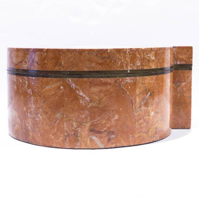 1980s Tessellated Stone Box by Maitland-Smith For Sale - Image 5 of 9