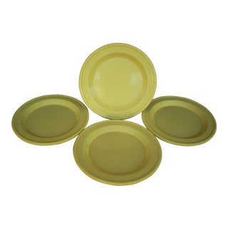 Emile Herny Yellow Plates - Set of 4