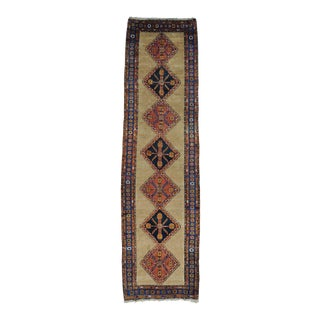 "Antique Persian Serab Camel Hair XL Runner Rug - 3'9""x14'4"" For Sale"