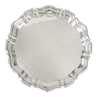 English Edwardian Sterling Silver Mappin & Webb Salver Tray 1907 For Sale