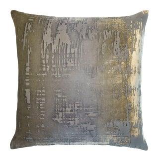Nickel Brushstroke Velvet Pillow