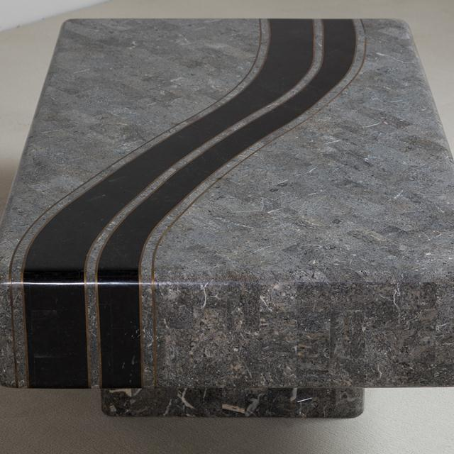 Mid-Century Modern A Tessellated Stone Coffee Table by Maitland Smith 1980s For Sale - Image 3 of 8