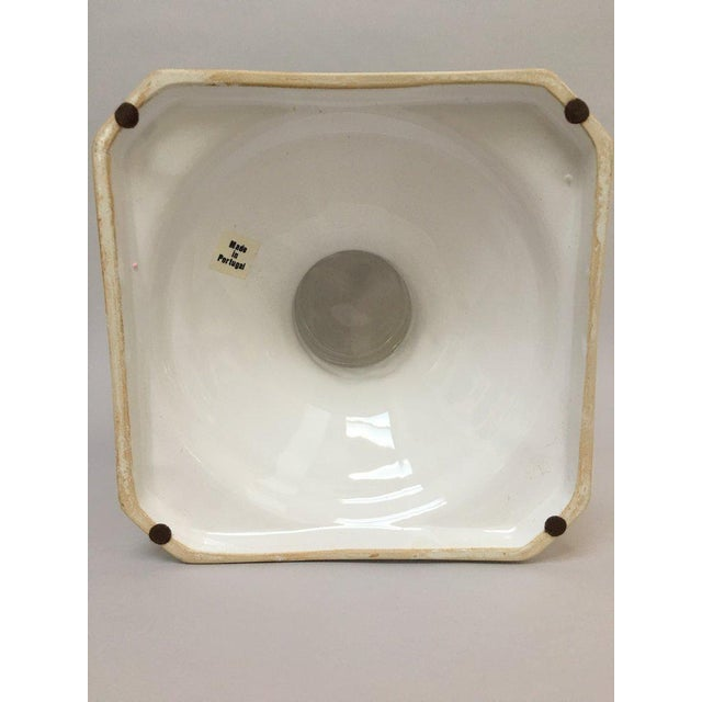 1970s Vintage Neoclassical White Glazed Stoneware Planter For Sale - Image 9 of 12