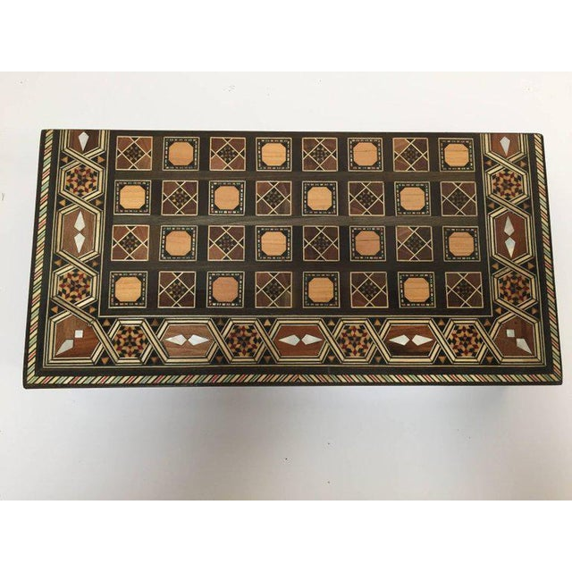 Syrian Inlaid Mosaic Backgammon and Chess Game Box For Sale - Image 9 of 10