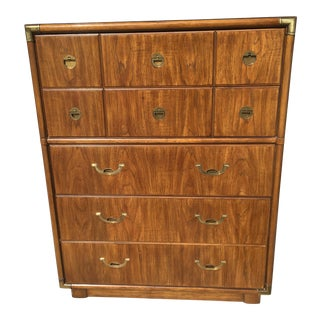 1980s Mid-Century Modern Drexel Accolade Chest of Drawers Dresser
