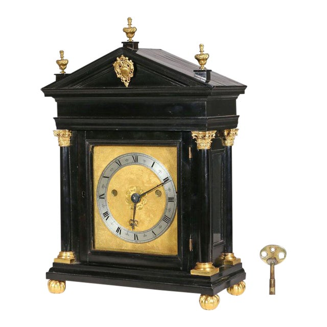 Edward East (1602-1697): Charles II Ebony Table Clock For Sale