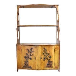 Antique 18th Century French Chinoiserie-Painted Spice Cabinet For Sale