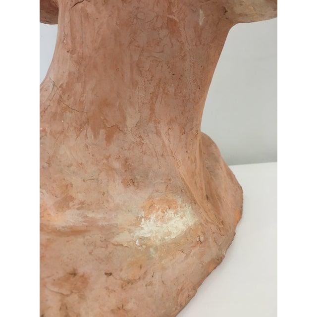 Vintage Plaster Female Bust For Sale - Image 10 of 13