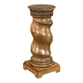 Antique Barley Twist Pedestal For Sale