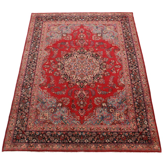 Hand-Knotted Wool Persian Mashad - 8′ × 11′ - Image 2 of 2