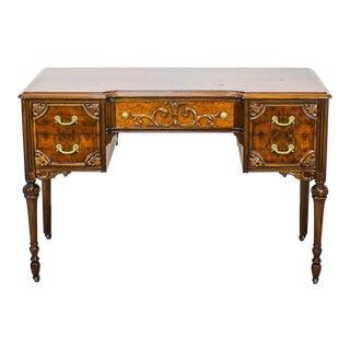 Vintage English Regency 5-Drawers Writing Desk For Sale
