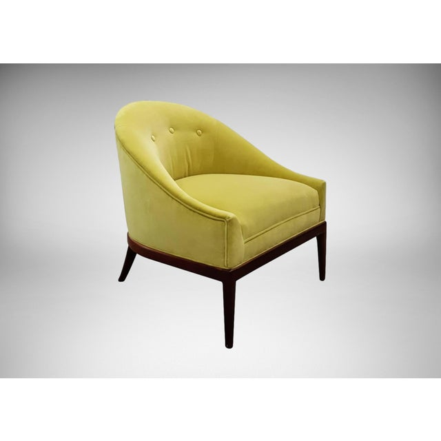 1960s Chartruese Velvet Slipper Chair - Image 2 of 7