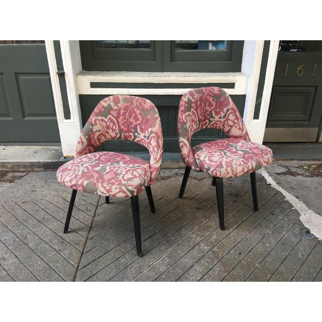 Mid-Century Modern Saarinen for Knoll Chairs - a Pair For Sale - Image 9 of 9