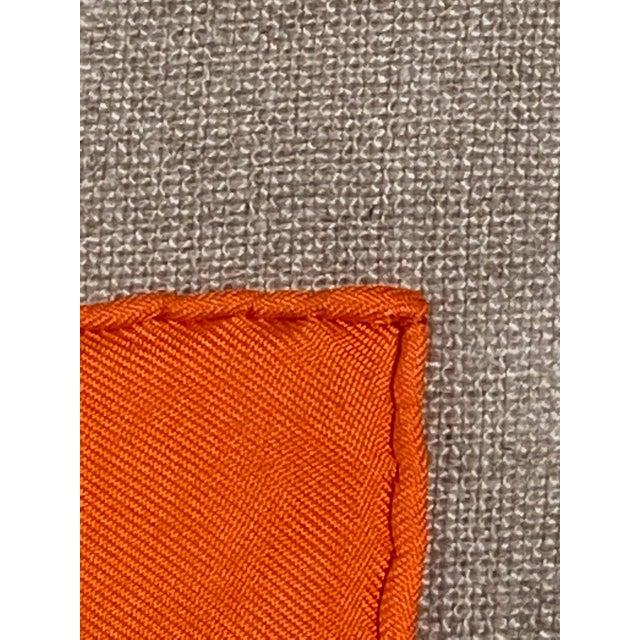 """English Framed Vintage Unused Hermès Silk Scarf """"Propos De Bottes"""" For Sale - Image 3 of 9"""