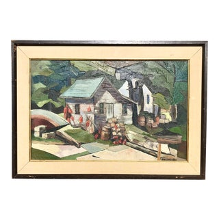 Mid-Century Landscape by Crawford For Sale