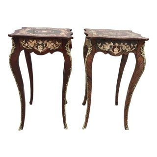 French Louis XV Style Occasional Tables - A Pair