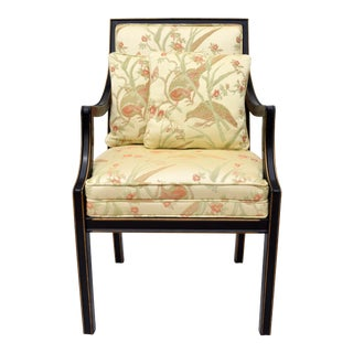 1960's Baker Furniture Upholstered Armchair For Sale