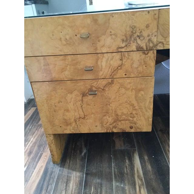 Italian Burl Wood Desk - Image 2 of 11
