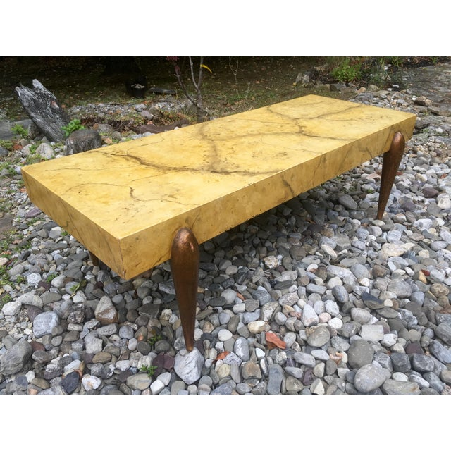 Mid Century Faux Marble Coffee Table - Image 3 of 7