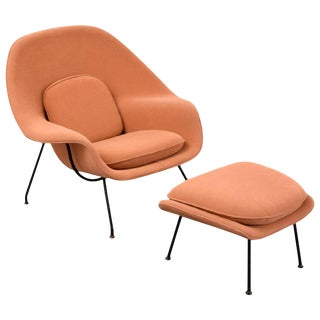 Eero Saarinen Womb Lounge Chair and Ottoman, Usa, 1960s For Sale