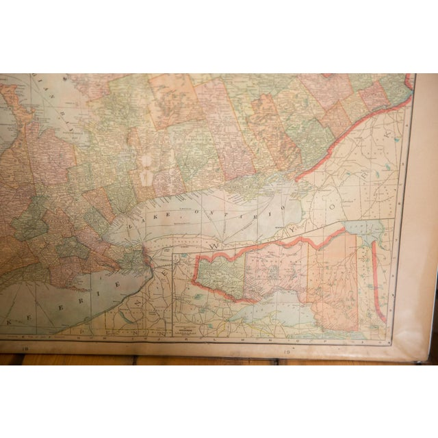 Paper Cram's 1907 Map of Ontario For Sale - Image 7 of 8