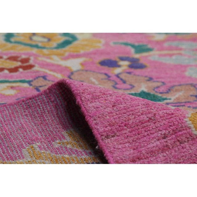 """Textile Traditional Handwoven Turkish Oushak Rug - 8'2""""x10'7"""" For Sale - Image 7 of 12"""