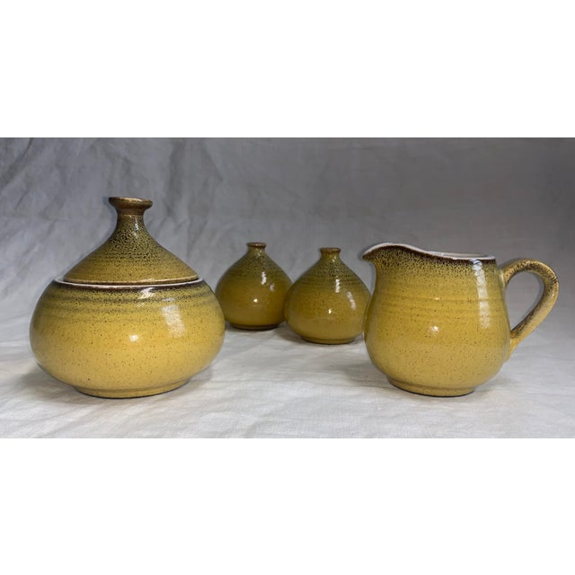 1960s Mikasa Japan Ceramic Table Set - 4 Piece Set For Sale In New York - Image 6 of 6