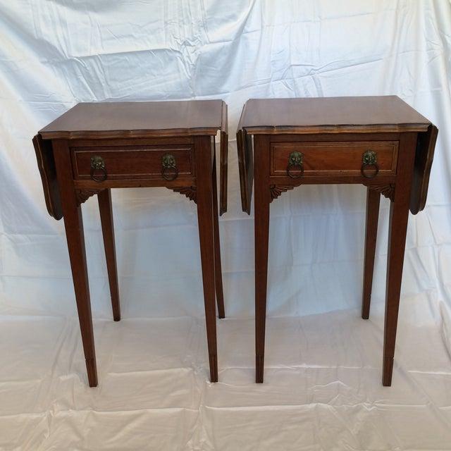 Vintage Drop Leaf Side Tables - A Pair - Image 2 of 9