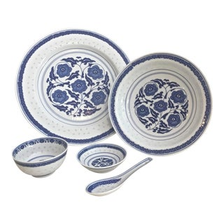 Vintage Riceware 5 Piece Place Setting Service for 8 Dinnerware - 41 Piece Set For Sale