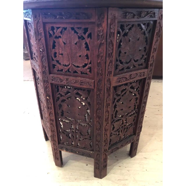 English Sized Round Moorish Anglo-Indian End Table For Sale - Image 3 of 8