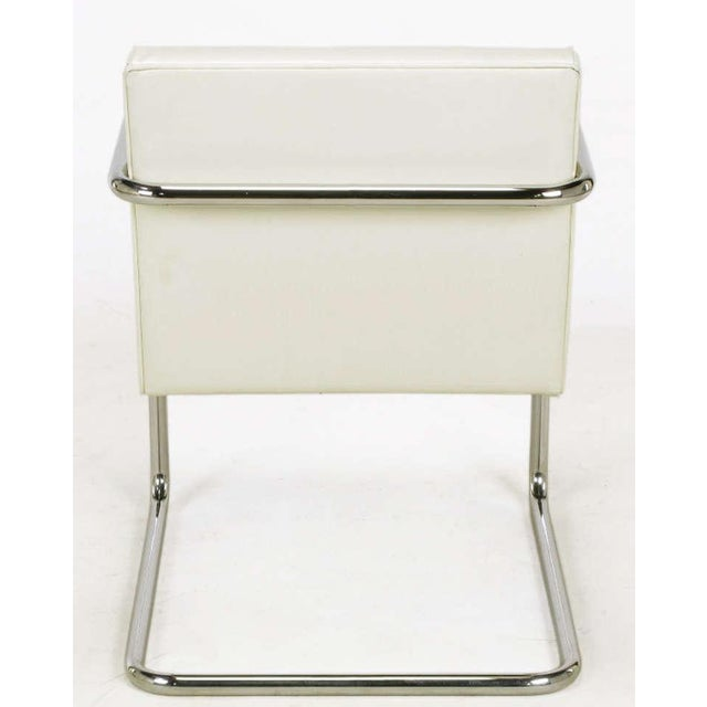 Four Thonet White & Chrome Cantilever Dining Chairs - Image 9 of 9