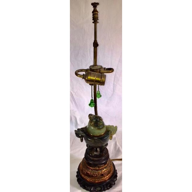 Vintage Chinese Jade Lamp For Sale - Image 13 of 13