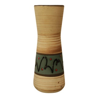 Cream Ceramic Vase by Scheurich Keramic West Germany For Sale
