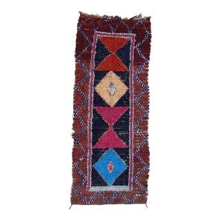 1970s Vintage Boucherouite Rug For Sale