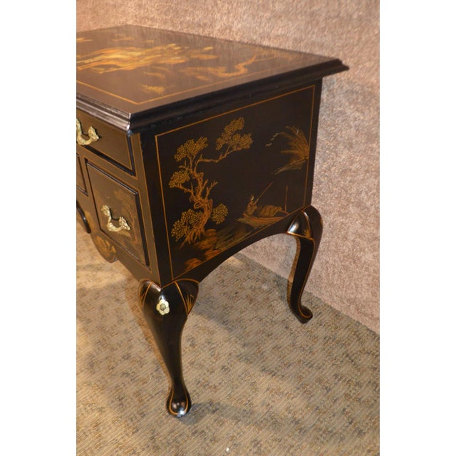 Vintage Hand Painted Chinoiserie Lowboy - Image 5 of 11