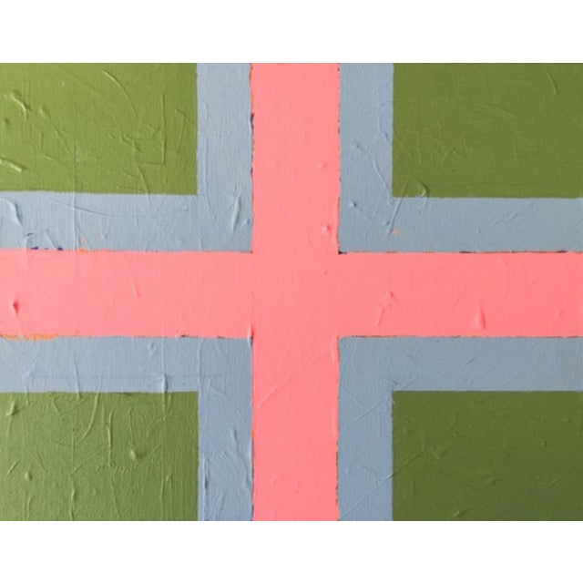 """2020 Donald Florence Abstract """"Green Corners"""" Acrylic Painting For Sale"""