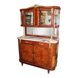 Antique French Buffet Deaux Corps Hutch For Sale