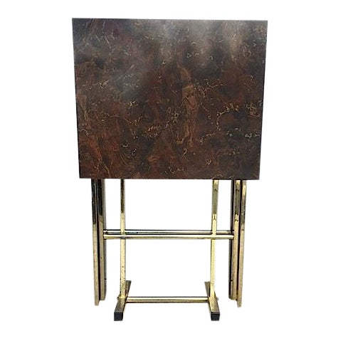 Hollywood Regency Style Tray Tables - Pair - Image 1 of 6