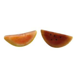 Cottage Stone Marble Melon Slices - a Pair