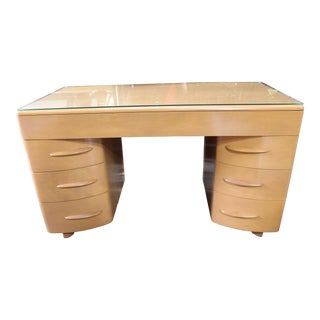 Heywood Wakefield Partner Desk & Chair - 2 Pieces For Sale