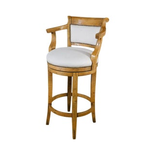 Guy Chaddock Swivel Bar Stool For Sale
