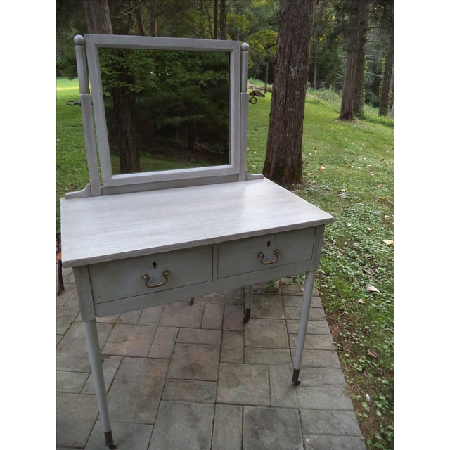 Antique Painted Vanity - Image 6 of 8
