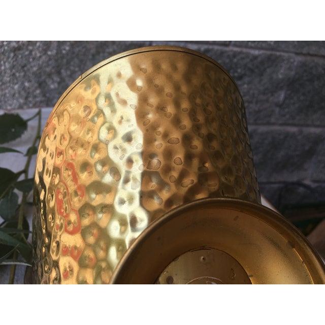 Hammered Brass Flower Basket - Image 7 of 8